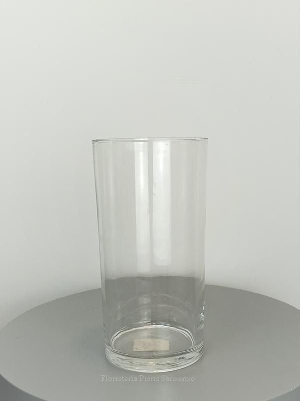 florero cristal cilindro