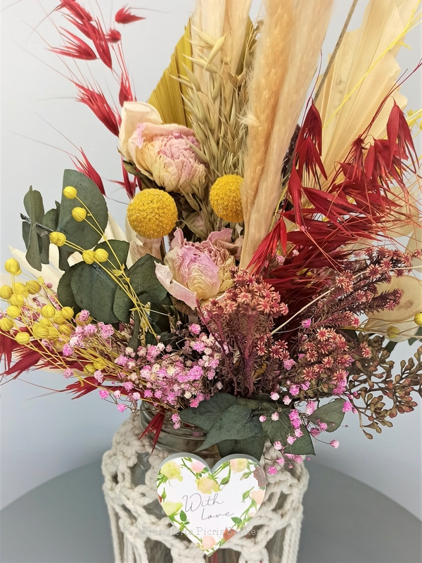 Ampliación Flores Secas con Macramé