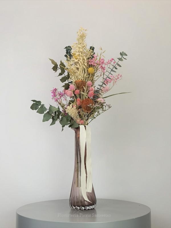 jarron sia flores preservadas