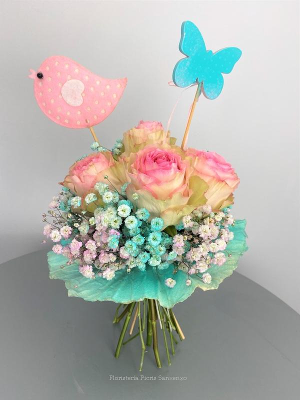 ramo flores para niños