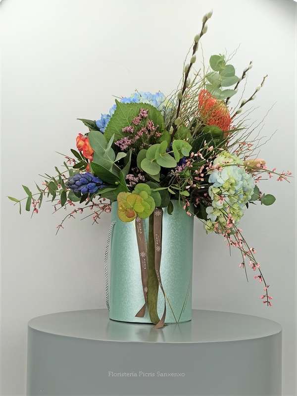 sombrereras flores frescas