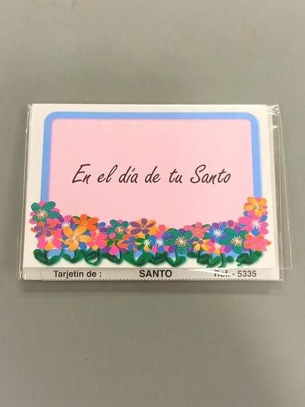 tarjeta mensaje en el dia de tu santo