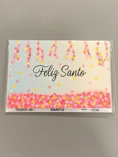 tarjeta mensaje feliz santo
