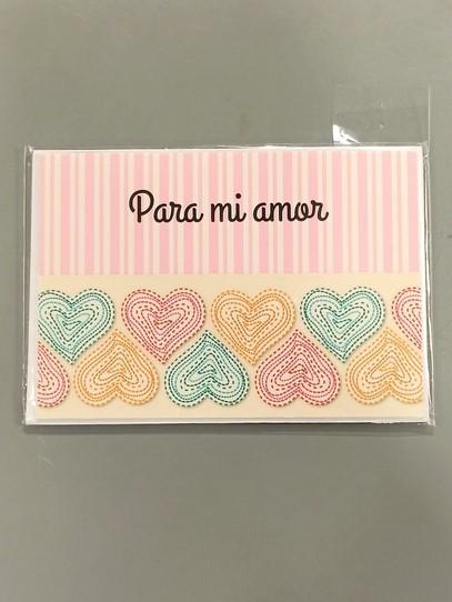 tarjeta mensaje para mi amor