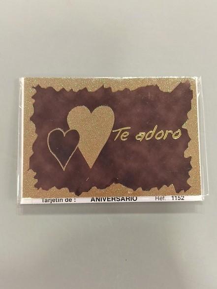 tarjeta mensaje te adoro
