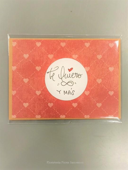 tarjeta te quiero infinito y más