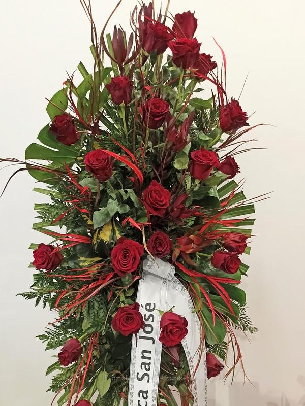 palma lagrimal rosas rojas